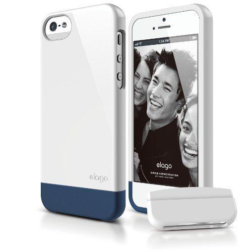 Калъф Elago S5 Glide за iPhone 5, Iphone 5s - бял-гланц - 1