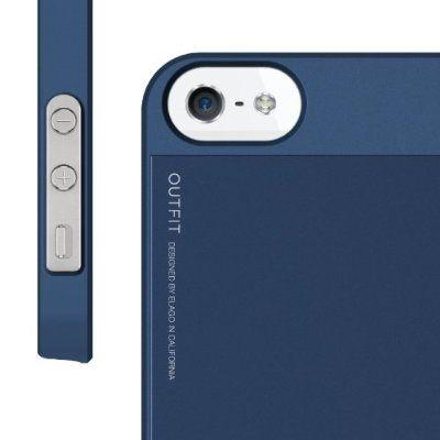 Elago S5 Outfit Aluminum за iPhone 5 -  тъмносин - 9