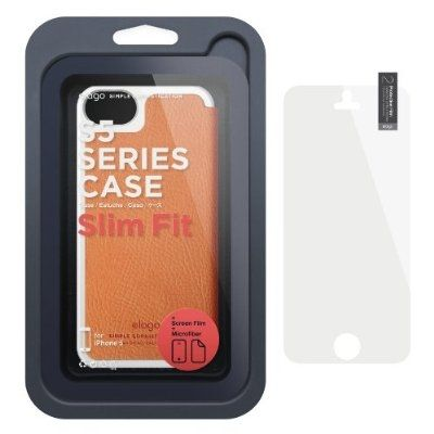 Elago S5 Leather Flip Case за iPhone 5 -  оранжев - 4