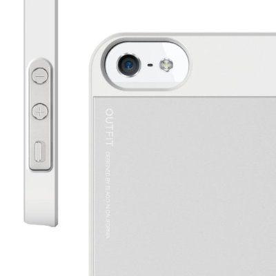 Elago S5 Outfit Aluminum за iPhone 5 -  бял - 3