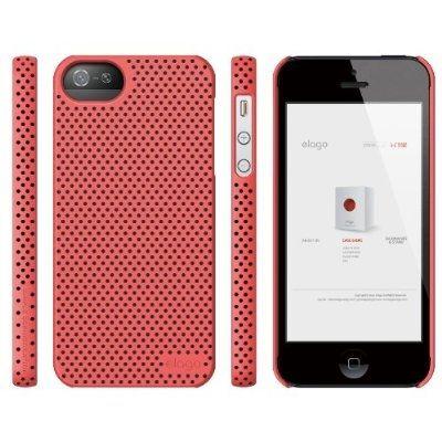 Калъф Elago S5 Breathe за iPhone 5, Iphone 5s -  светлочервен - 5