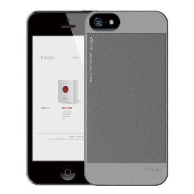 Elago S5 Outfit Aluminum за iPhone 5 -  сив - 2