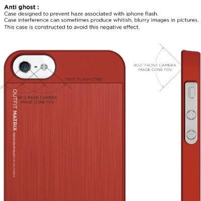 Elago S5 Outfit Matrix Aluminum + HD Clear Film за iPhone 5 -  червен - 3