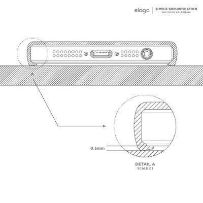 Elago S5 Outfit Matrix Aluminum + HD Clear Film за iPhone 5 -  тъмносив - 6