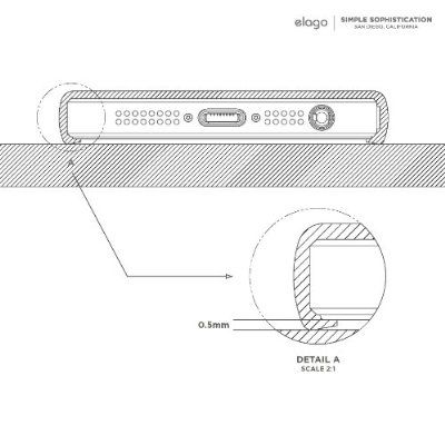 Elago S5 Glide Case за iPhone 5 - черен-мат - 3