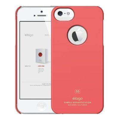 Elago S5 Slim Fit Case за iPhone 5 -  червен-мат - 1
