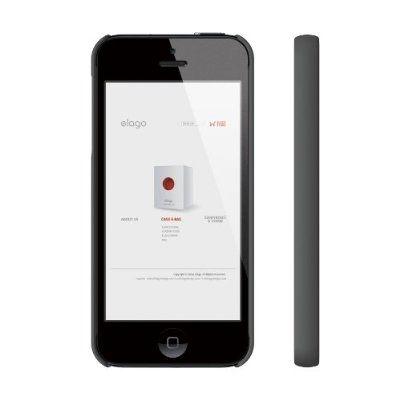 Elago S5 Slim Fit 2 Case за iPhone 5 -  тъмносив - 3