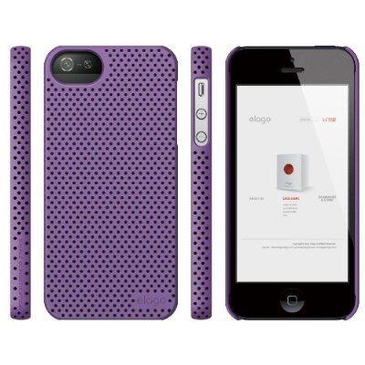 Калъф Elago S5 Breathe за iPhone 5, Iphone 5s -  лилав - 5
