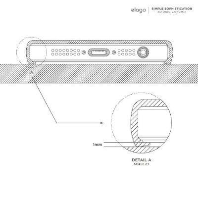 Калъф Elago S5 Glide за iPhone 5, Iphone 5s - тъмнорозов- - 4