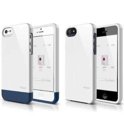 Калъф Elago S5 Glide за iPhone 5, Iphone 5s - бял-гланц - 2