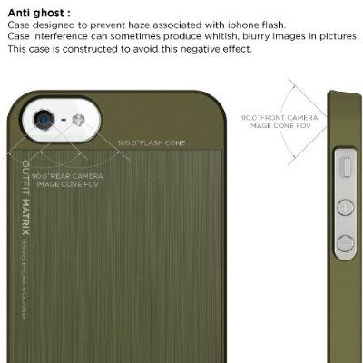 Elago S5 Outfit Matrix Aluminum + HD Clear Film за iPhone 5 -  зелен - 3