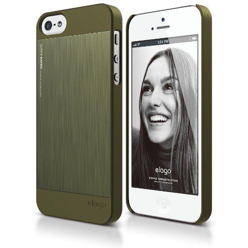 Elago S5 Outfit Matrix Aluminum + HD Clear Film за iPhone 5 -  зелен - 1