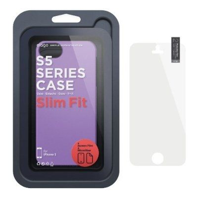 Elago S5 Slim Fit 2 Case + HD Clear Film за iPhone 5 -  лилав-мат - 5