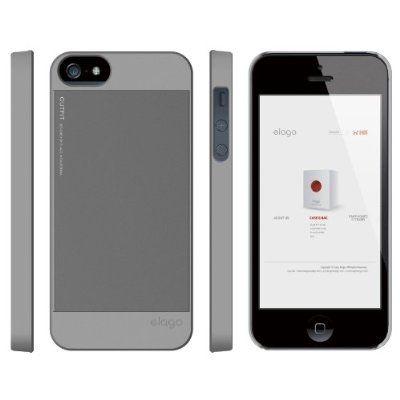 Elago S5 Outfit Aluminum за iPhone 5 -  сив - 3