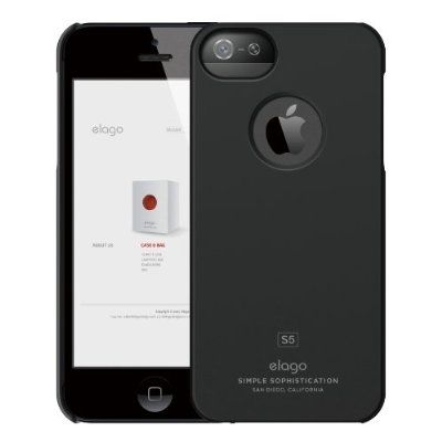 Elago S5 Slim Fit Case за iPhone 5 -  черен - 7