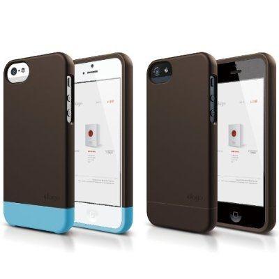 Elago S5 Glide Case за iPhone 5 - кафяв - 2