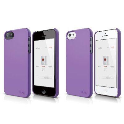 Elago S5 Slim Fit 2 Case + HD Clear Film за iPhone 5 -  лилав-мат - 2