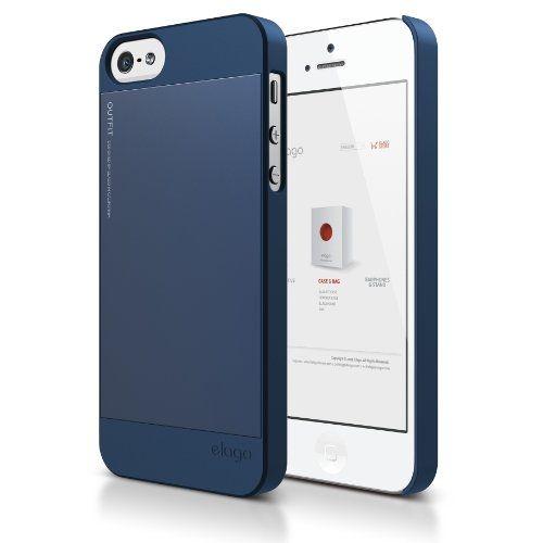 Elago S5 Outfit Aluminum за iPhone 5 -  тъмносин - 1