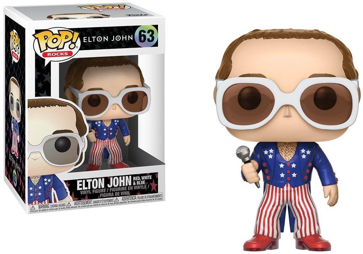 Фигура Funko Pop! Rocks: Elton John - Red White Blue, #63 - 2