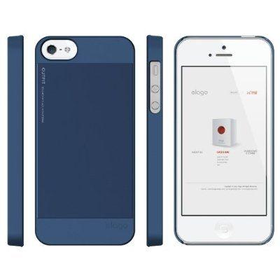 Elago S5 Outfit Aluminum за iPhone 5 -  тъмносин - 2