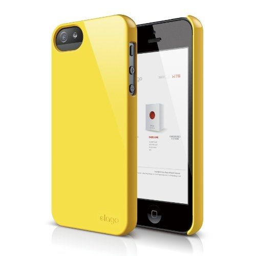 Elago S5 Slim Fit 2 Case за iPhone 5 -  жълт - 1