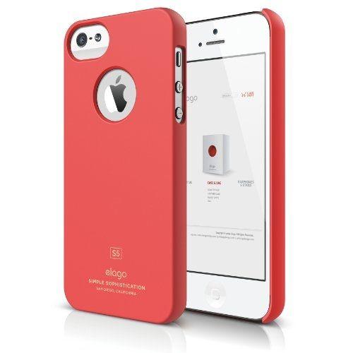 Elago S5 Slim Fit Case за iPhone 5 -  червен-мат - 2