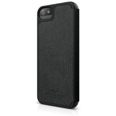 Elago S5 Leather Flip Case за iPhone 5 -  черен - 3