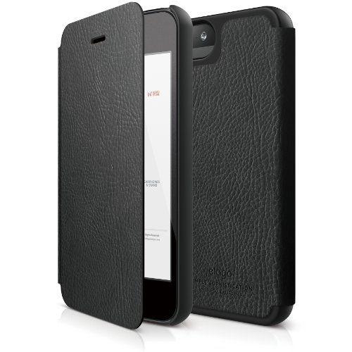 Elago S5 Leather Flip Case за iPhone 5 -  черен - 1