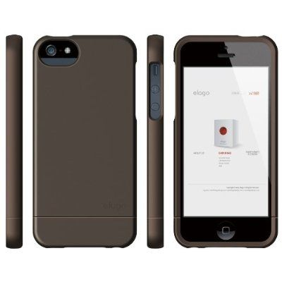 Elago S5 Glide Case за iPhone 5 - кафяв - 4