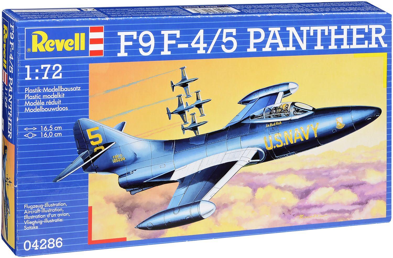 Сглобяем модел Revell - Военен самолет F9F-5 Panther (04286) - 1