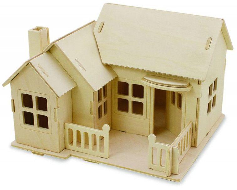 Дървен 3D пъзел Robo Time от 27 части - Къща 2 - Ферма - 1