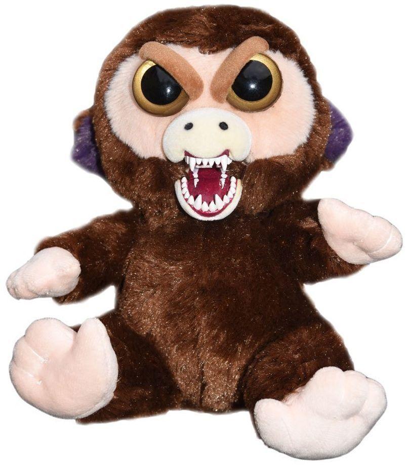 Плашеща плюшена играчка WMC Toys Feisty Pets - Маймуна - 3