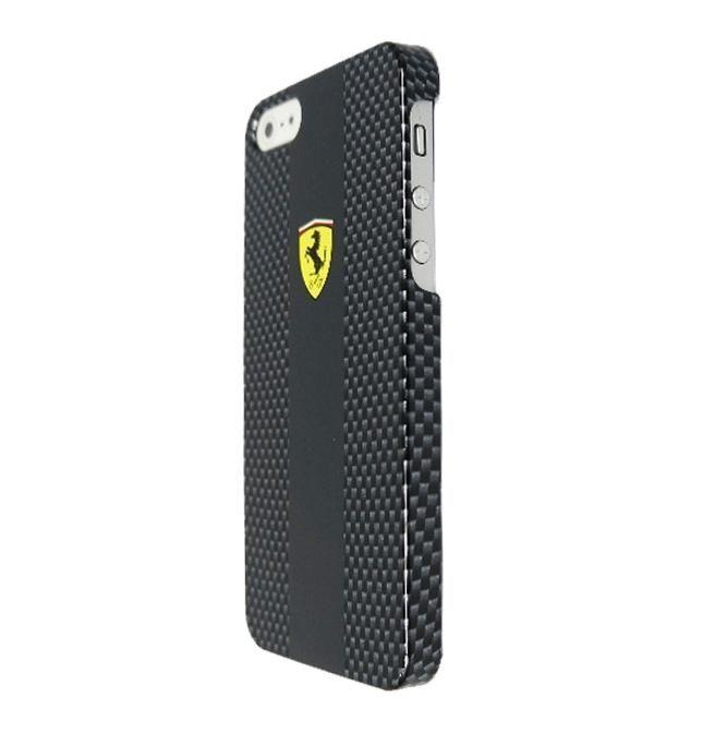 Ferrari Carbon Effect за iPhone 5 -  черен - 2