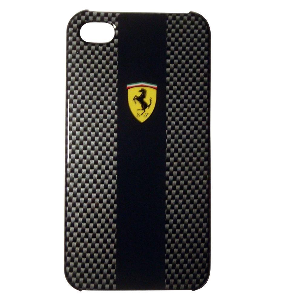 Ferrari Carbon Effect за iPhone 5 -  черен - 1