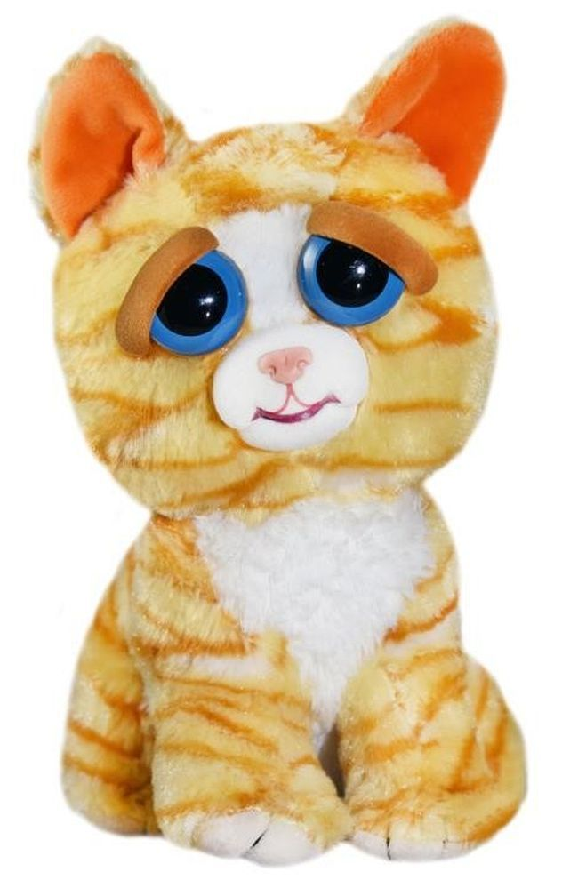 Плашеща плюшена играчка WMC Toys Feisty Pets - Оранжева котка - 1