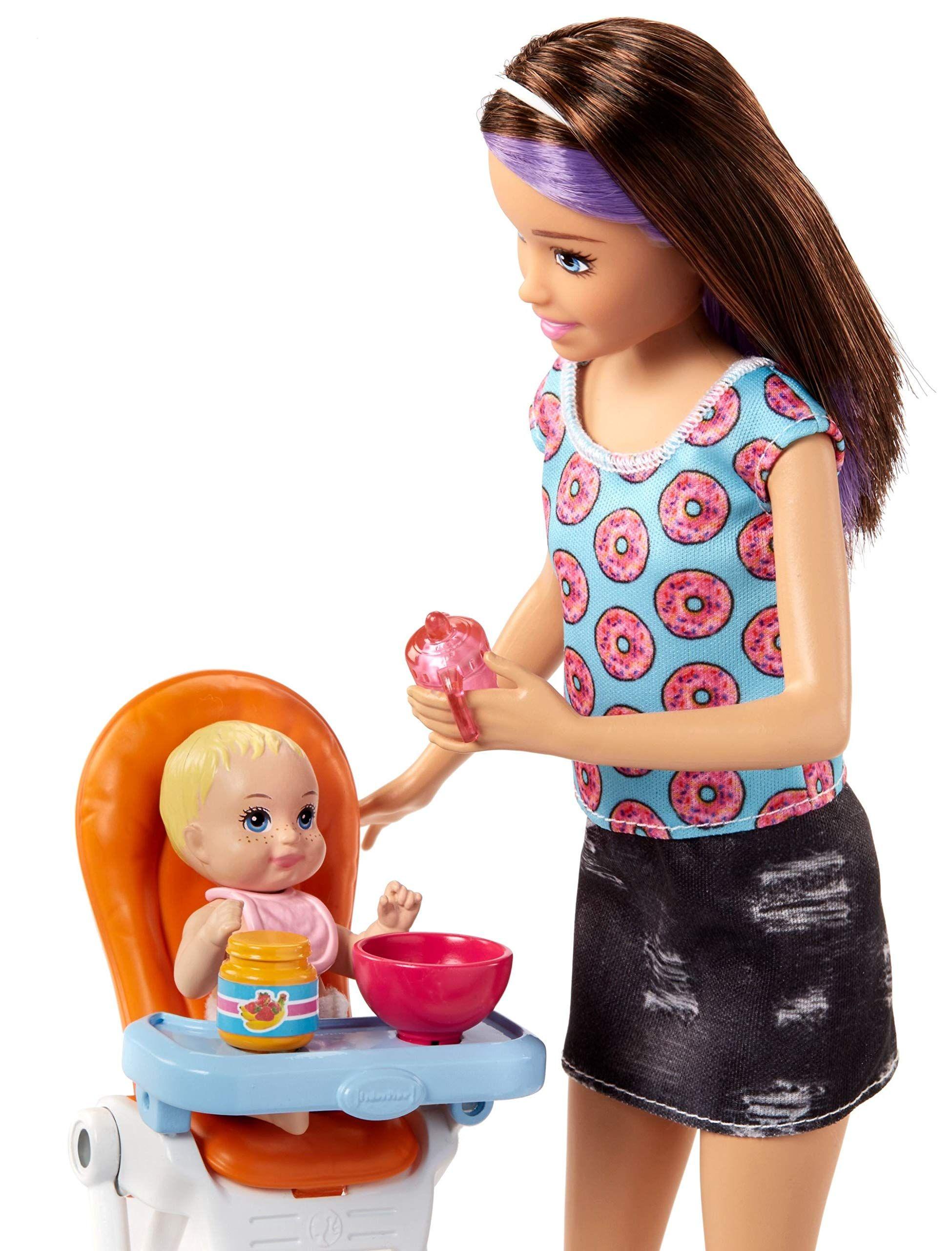 Игрален комплект Mattel Barbie - Детегледачка, асортимент - 6