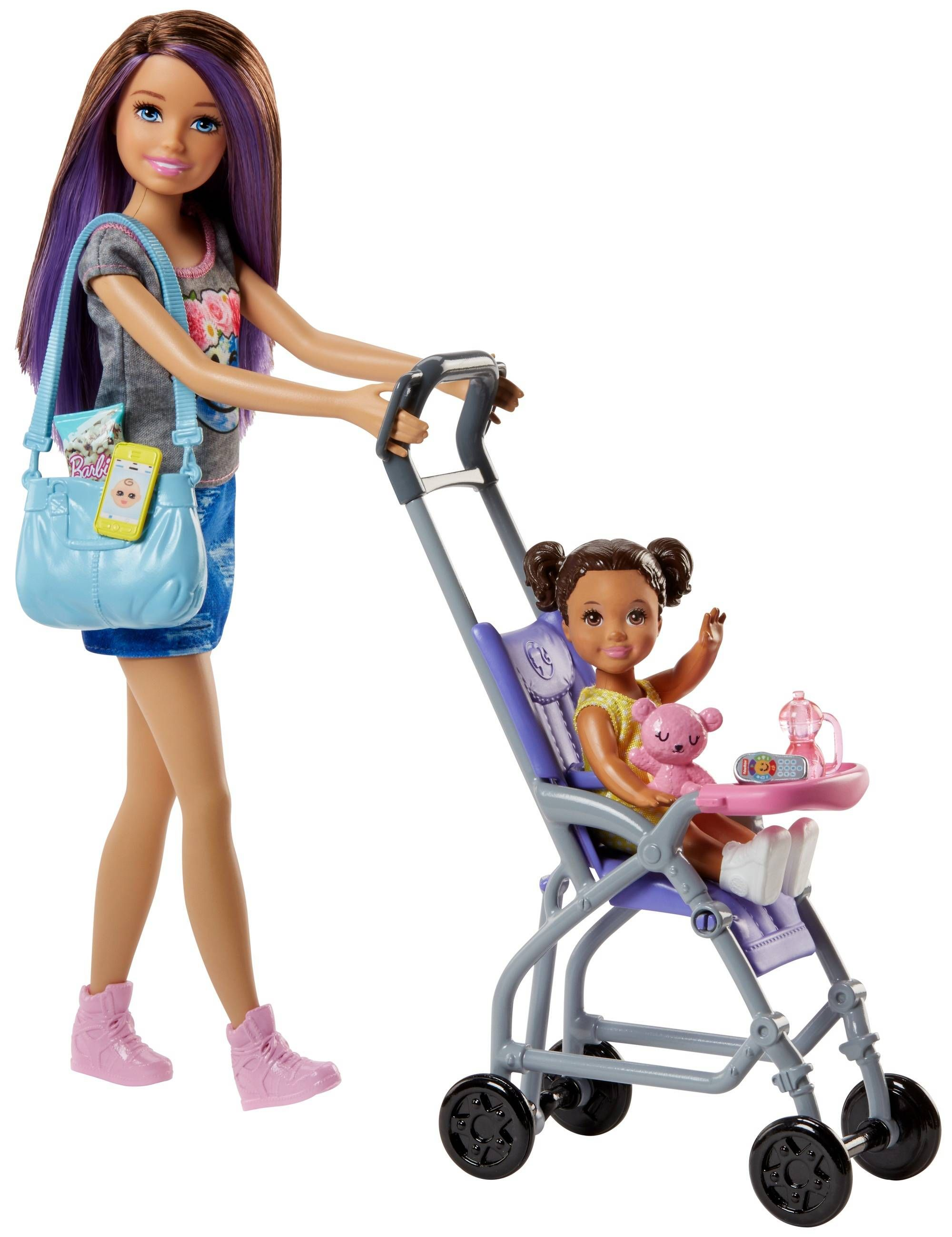 Игрален комплект Mattel Barbie - Детегледачка, асортимент - 10