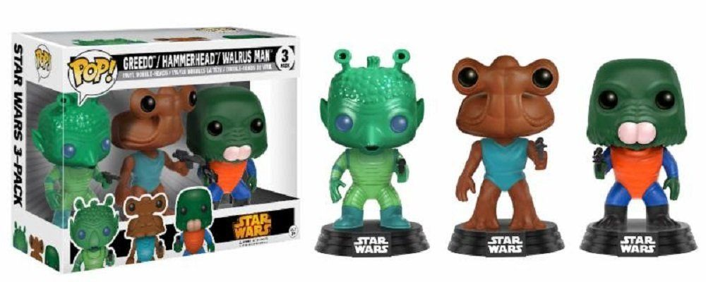 Фигури Funko Pop! Star Wars: Greedo, Hammerhead, Walrus - 3-Pack - 2