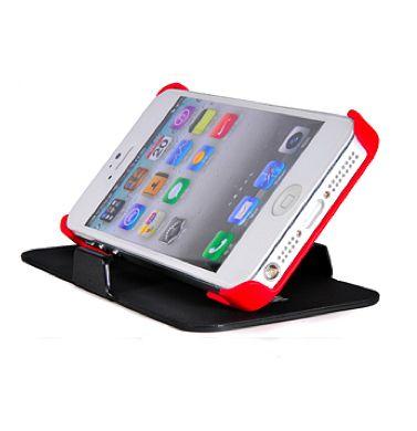 FitCase Stand Faceplate за iPhone 5 - черен-червен - 1