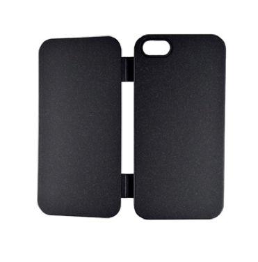 FitCase TPU Flip Case  силиконов кейс тип портфейл за iPhone 5 (черен) - 2
