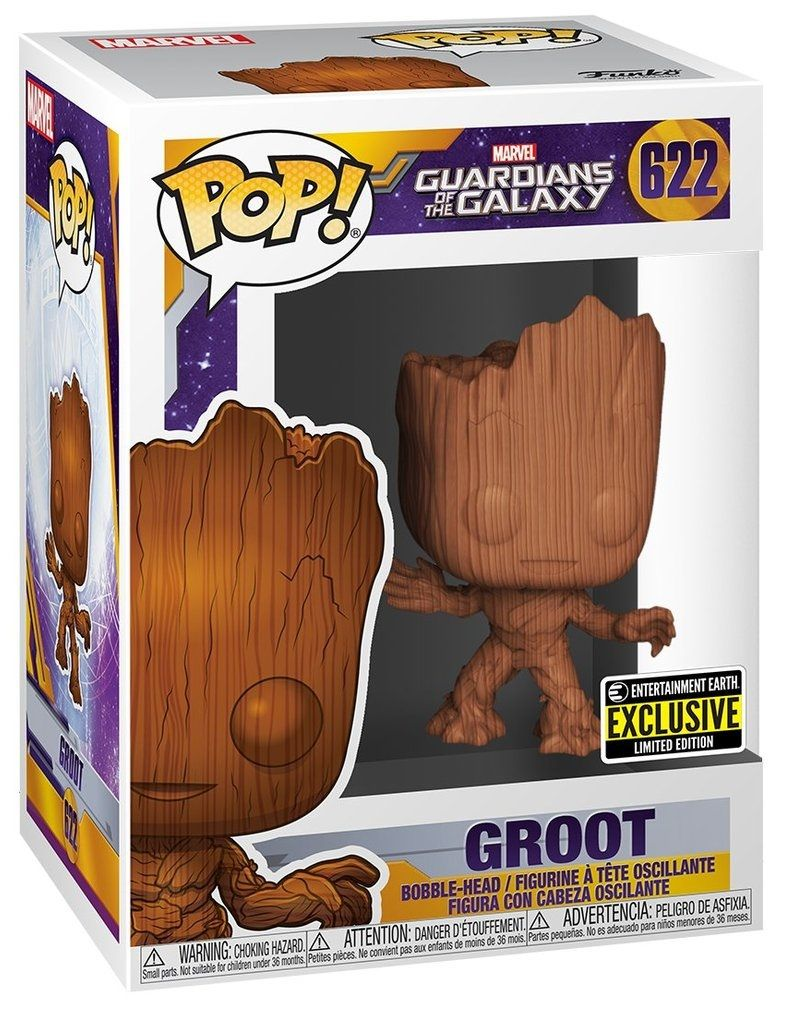 Фигура Funko Pop! Marvel: Guardians of the Galaxy - Groot Wood Deco (Special Edition), #622 - 2