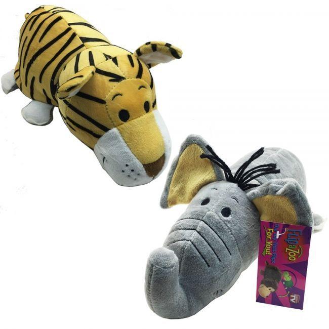 Играчка Flipazoo 2в1 – Тигър/слон, 30cm - 1