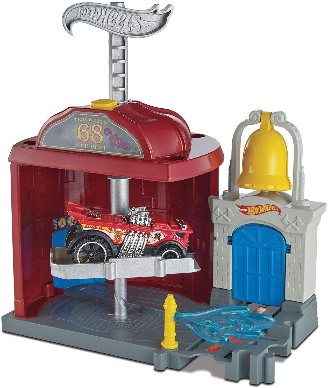 Игрален комплект Hot Wheels City Downtown - Fire Station Spinout - 4