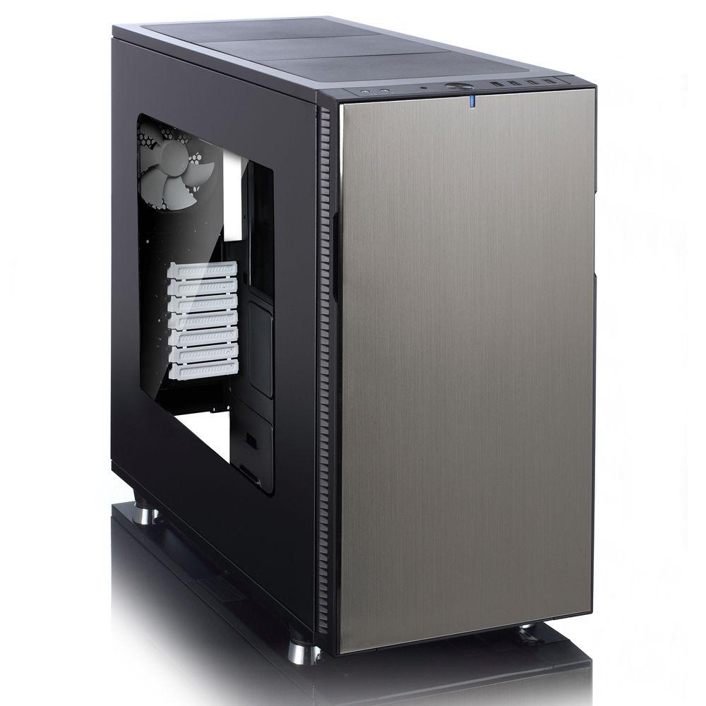 Кутия Fractal Design Define R5 Titanium + прозрачен капак - 1