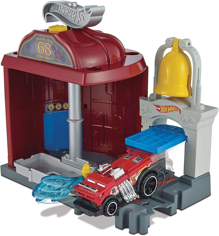 Игрален комплект Hot Wheels City Downtown - Fire Station Spinout - 3