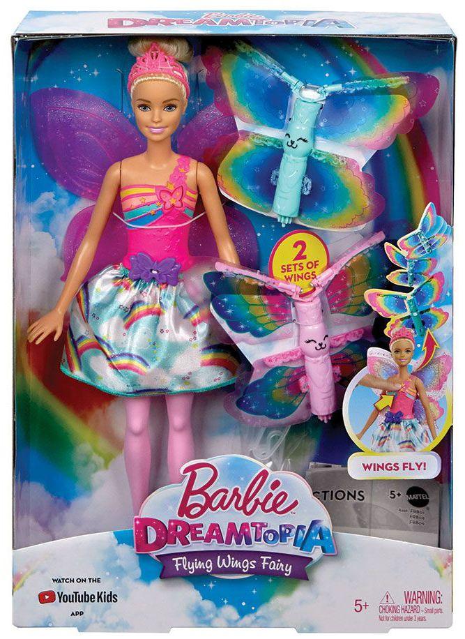 Кукла Mattel Barbie Dreamtopia - Фея, с летящи криле - 1