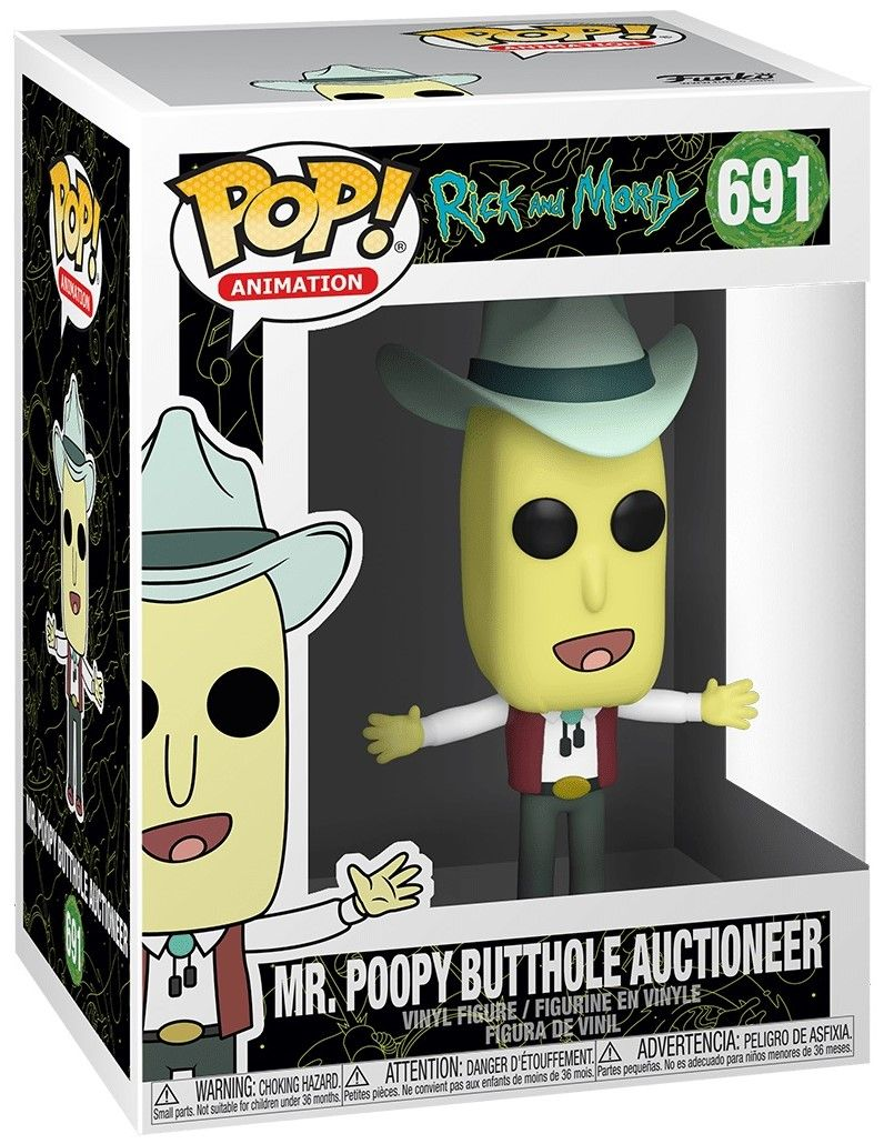 Фигура Funko Pop! Animation: Rick & Morty - Mr. Poopy Butthole Auctioneer, #691 - 2