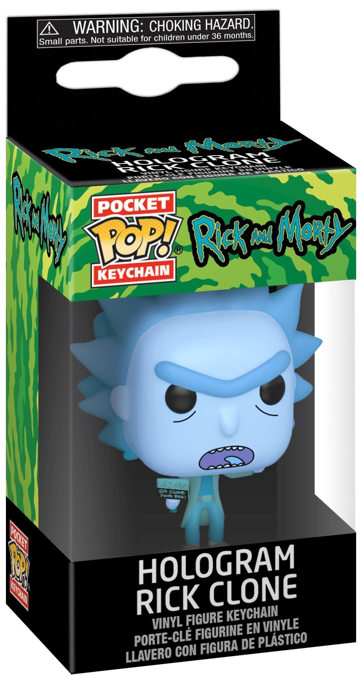 Ключодържател Funko Pocket Pop! Rick & Morty - Hologram Rick Clone - 2