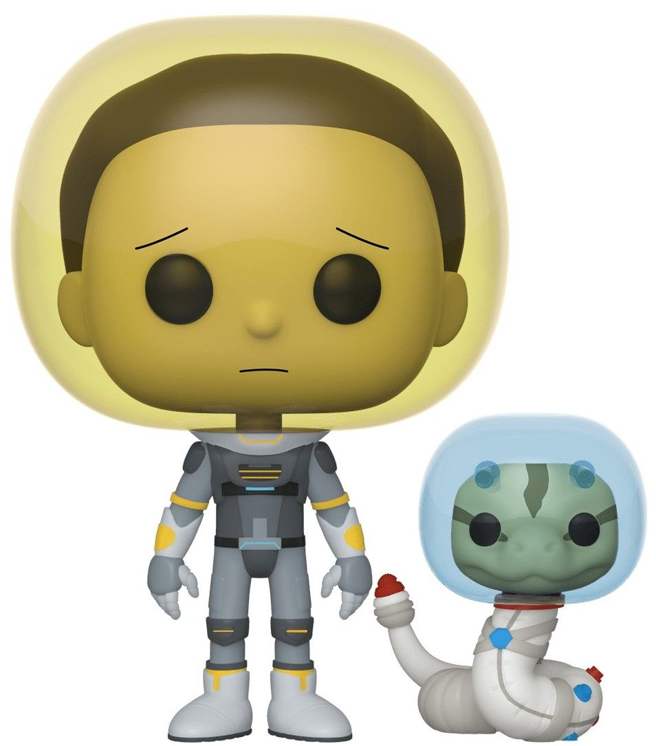 Фигура Funko Pop! Animation: Rick & Morty - Space Suit Morty with Snake, #690 - 1