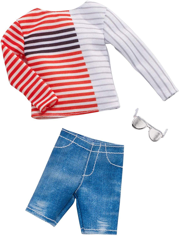 Дрехи за кукла Mattel Barbie - Блуза с къси панталони и очила, за Кен - 1